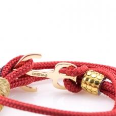 Nautical bracelet 14K solid gold anchor CNA 516